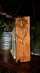 A gift for my mother-in-law, pine board, shellac finish, 12 in x 6 in x 3/4 in)