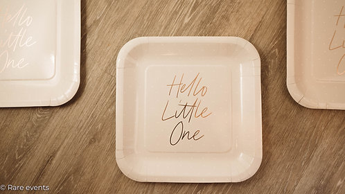 Hello little one plates