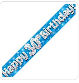 Blue age foil banner
