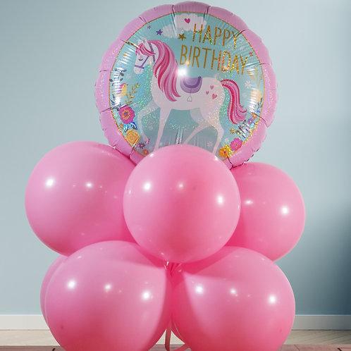 Birthday balloon tower