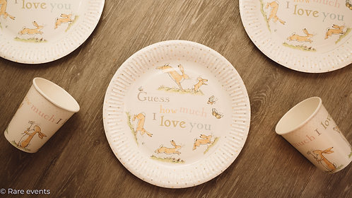 Guess how much I love you plates