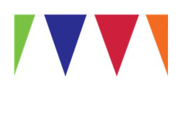 Outdoor solid colour bunting