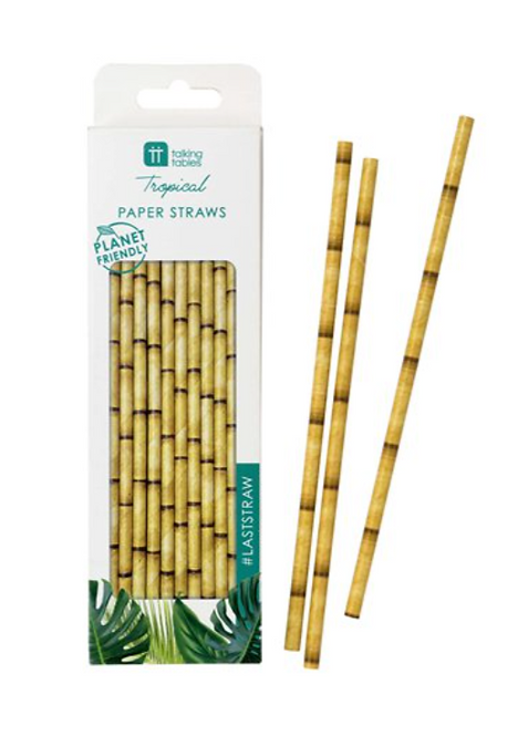 Bamboo Look Paper Straws
