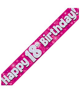Pink age foil banner