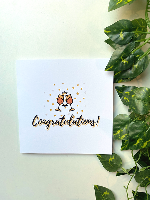 Blank Congratulations card