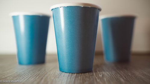 Solid colour cups