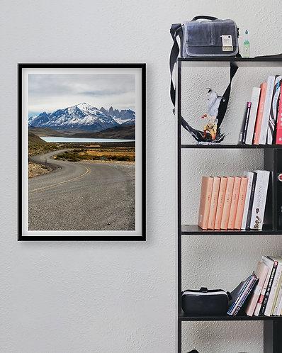 Estrada para Torres del Paine
