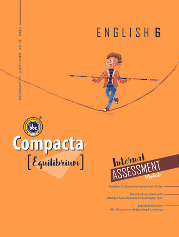 Compacta English Class 6 Equilibrium