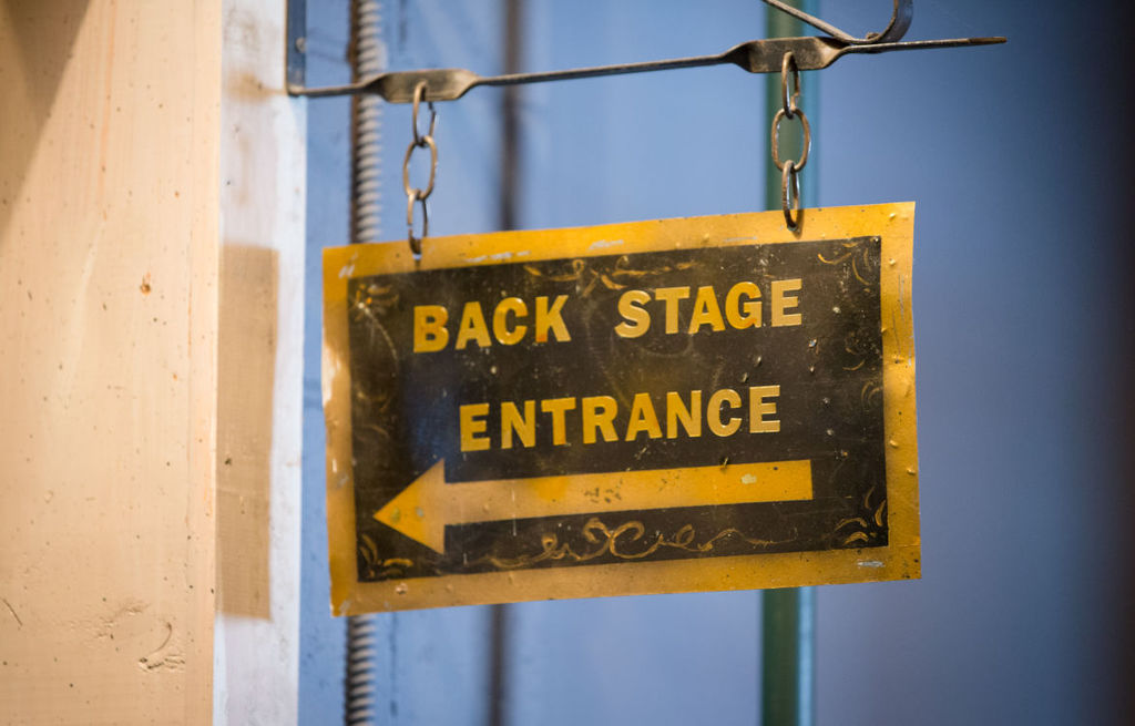 Backstage Sign