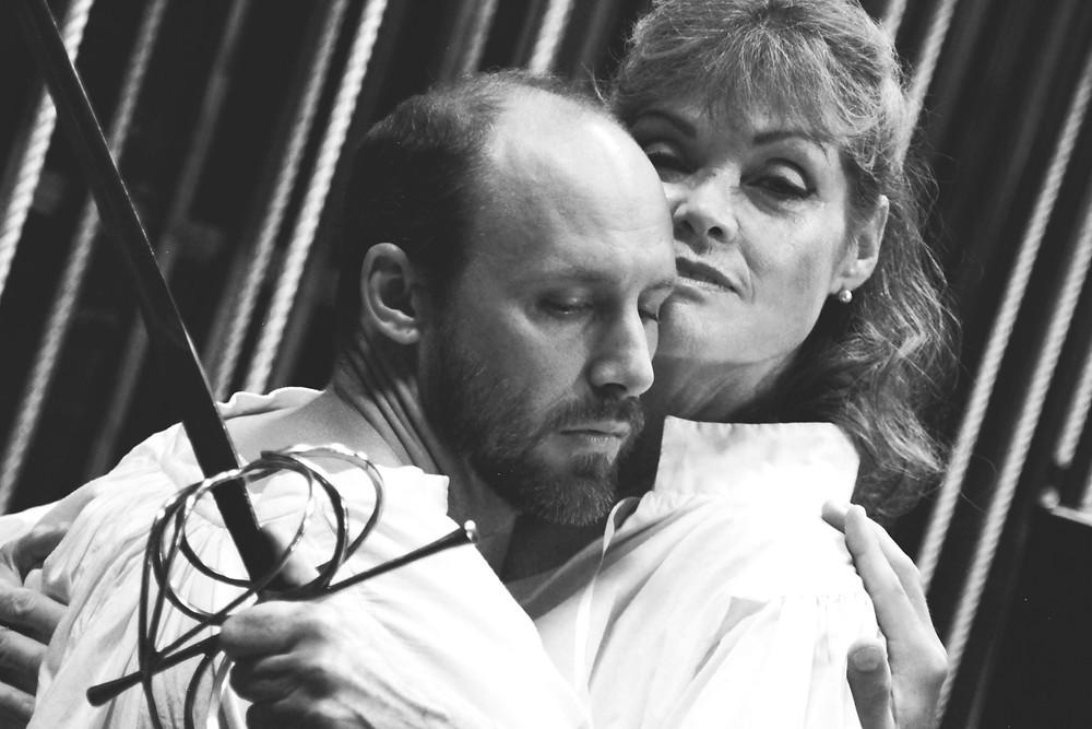 Delaney Driscoll as Sarah Bernhardt & Matthew R. Olson as Edmund Rostand