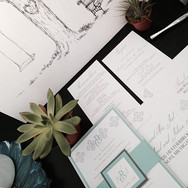 Invitation Suite and Custom Guest Book #