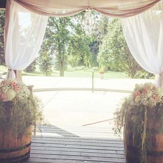 Ceremony Decor and Rentals #weddingflowe