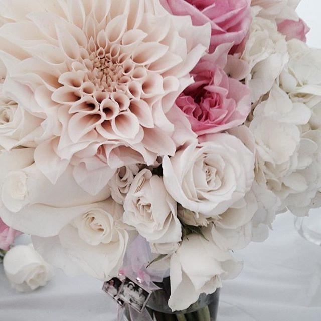 Bridal Bouquet #dahlias #rose #hydrangre