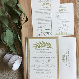 Custom wedding invitations by #annetteri