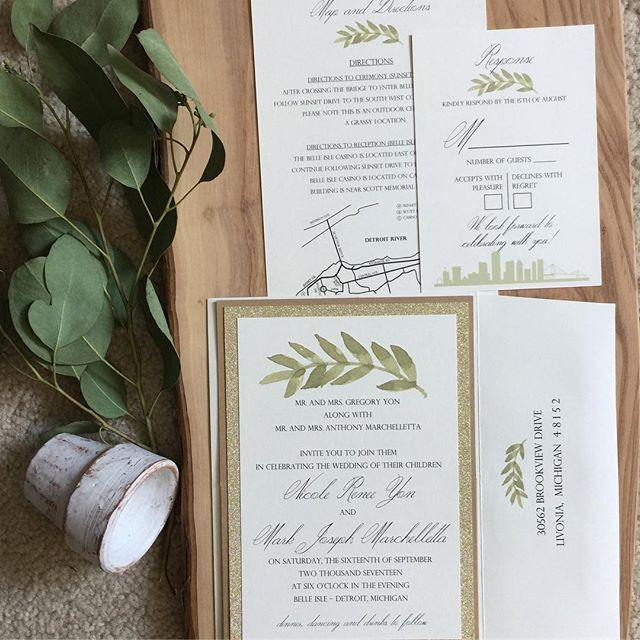 Custom wedding invitations by #annetteri