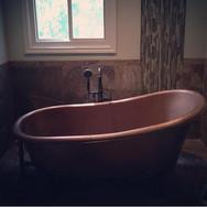 Copper Tub Envy #interiordesign #rusticd