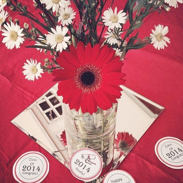 Graduation Party Centerpieces #eventplan