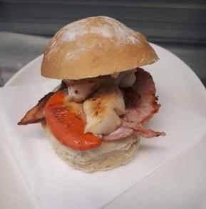 Scallop & Bacon Roll