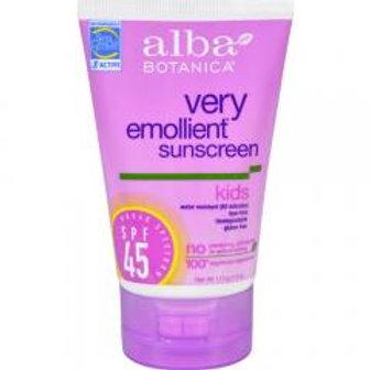 Natural Very Emollient Sunscreen For Kids Spf 45 ( 1 - 4 FZ) Natural Very Emolli