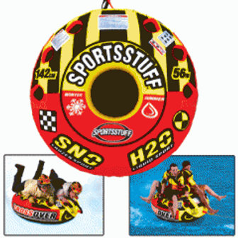 SportsStuff Super Crossover 2 Person Snow/Water Tube