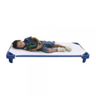 Kids Children Stackable Kiddie Cot Single Standard Asm - Blue