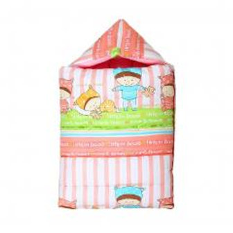100% Cotton Infant Sleeping Bag, Under 1 Years Old, Pink Strap