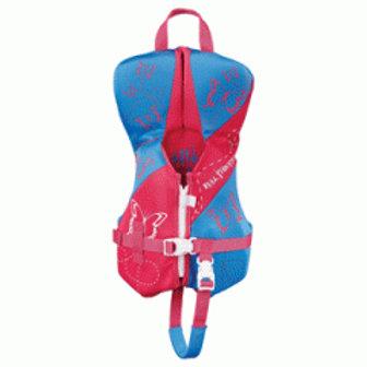 Full Throttle Rapid-Dry Flex-Back Life Vest - Infant to 30lbs - Pink