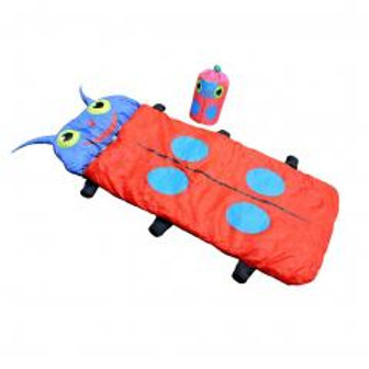Kids Cartoon Beetle Sleeping Bag for 2 Season Mild Weather (Red)