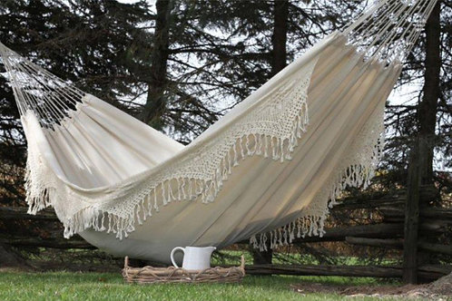 Vivere Outdoor Camping Brazilian Style Double Deluxe Hammock (Natural)
