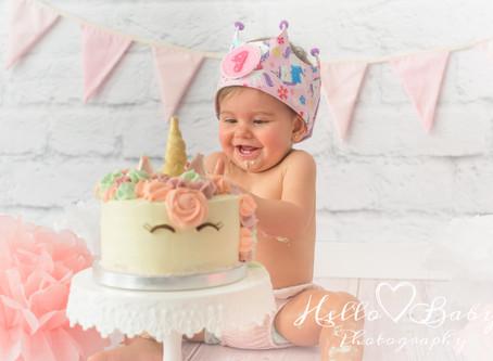 Fotografía Smash Cake  o Destroza el Pastel