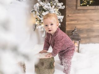 Sesión de fotos de navidad para bebés