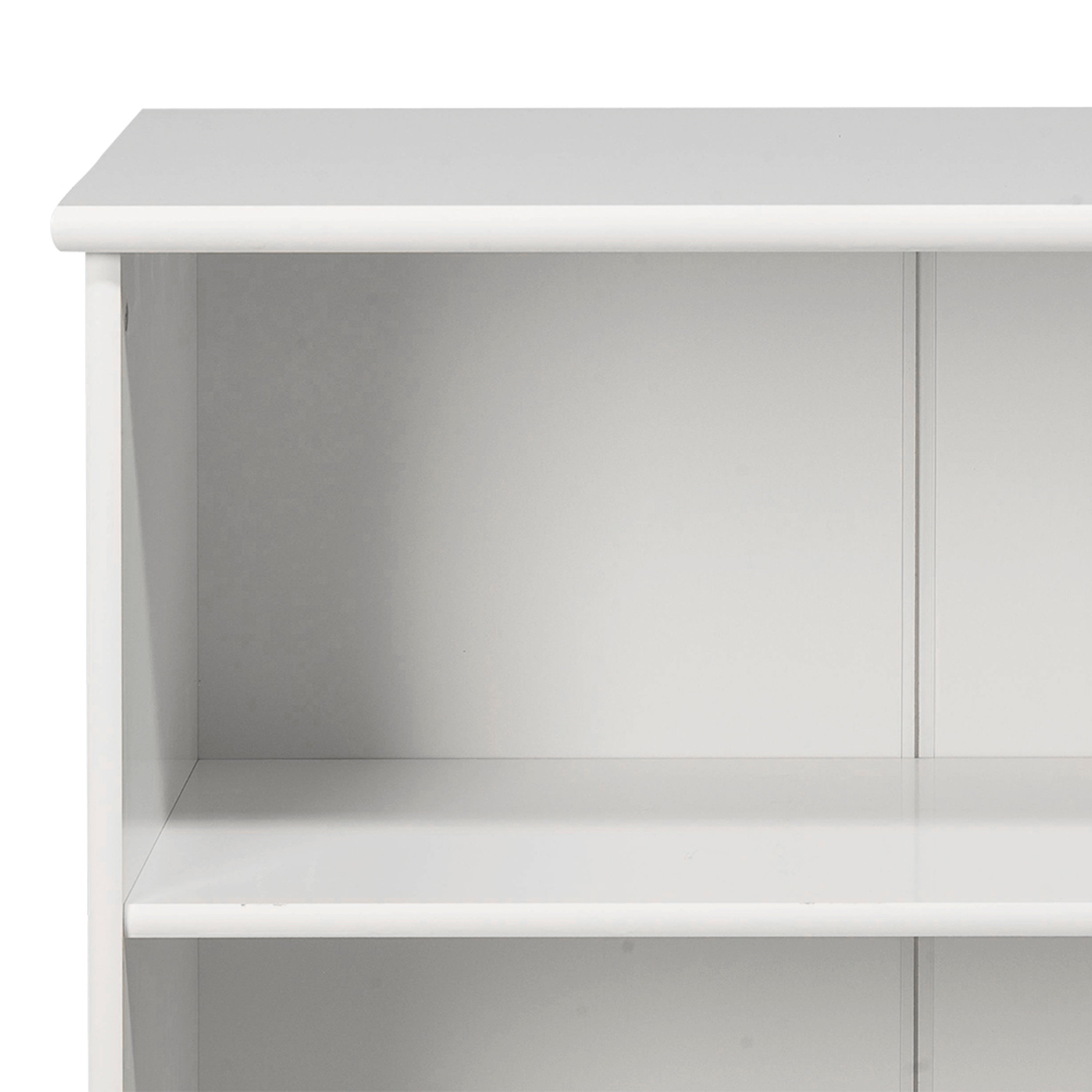 Kids World Low Bookcase In White Rds Furniture Online