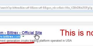 Non seguite l'annuncio Bittrex indicato da Google: si tratta di phishing sul sito fake Blttrex