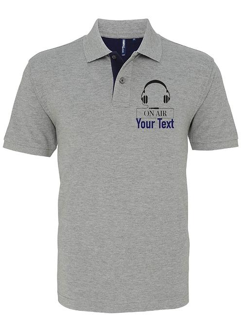 Mens Mid Range Polo Shirt On Air Headphone