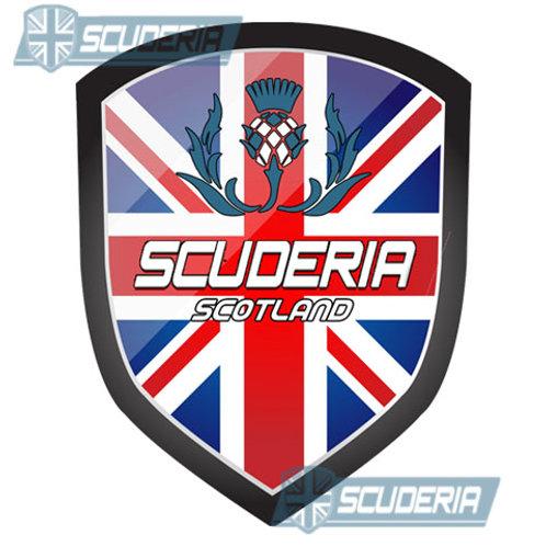 Scuderia SCOTLAND bumper sticker LARGE