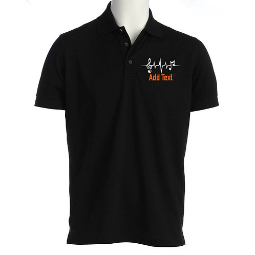 Unisex Polo Shirt Notes Design