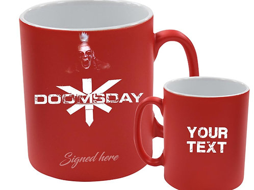 RED Doomsday mug - Signed by Sol