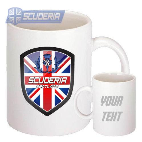 Scuderia SCOTLAND shield 10oz Mug White