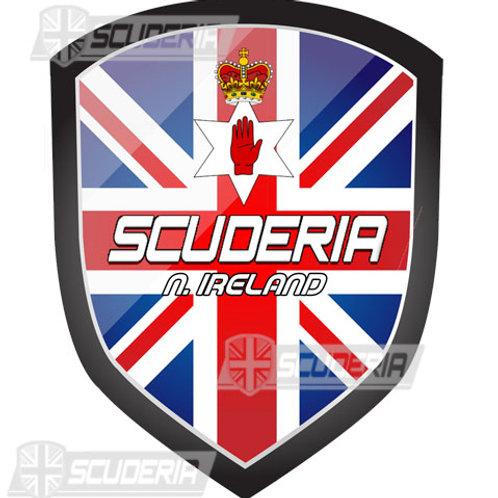 Scuderia N/IRELAND bumper sticker LARGE