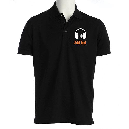 Unisex Polo Shirt Headphones001