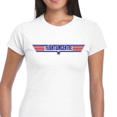 Ladies Fit Tee shirt -TOP GUN