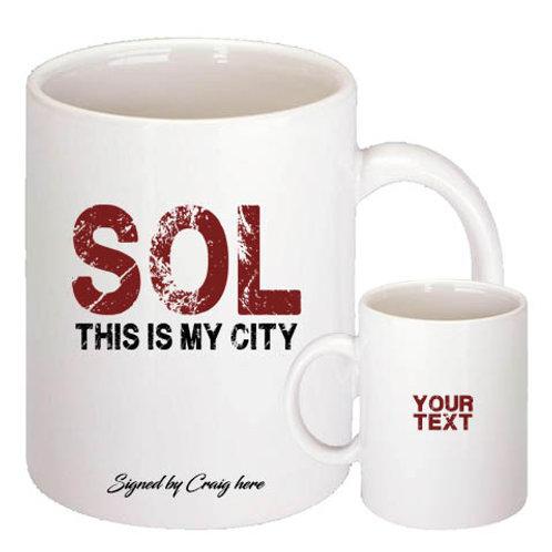 SOL Doomsday  mug - Signed by Sol (Craig Conway)