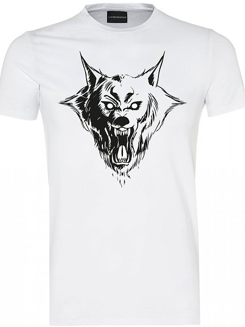 Dog Soldiers white Tee - LONE WOLF
