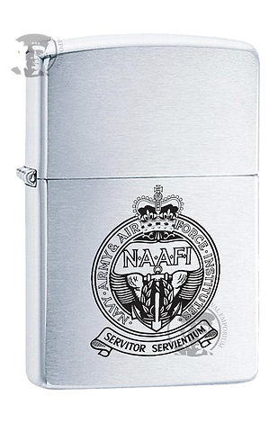 NAAFI - Zippo Lighter - Laser Etched