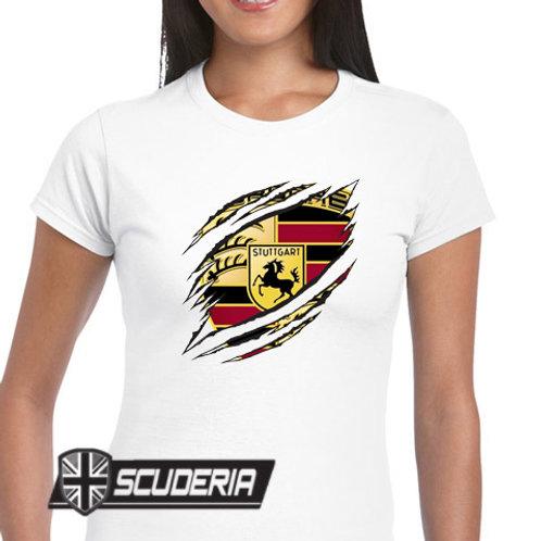 Ladies Fit Tee shirt -Porsche RIP