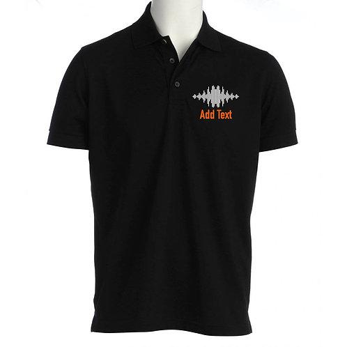 Unisex Polo Shirt sound wav