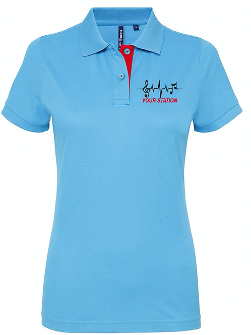 WOMENS polo shirt NOTES- AQ022