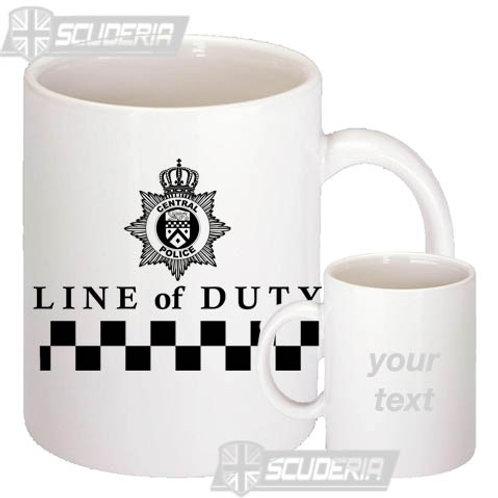 LINE OF DUTY  10oz Mug White