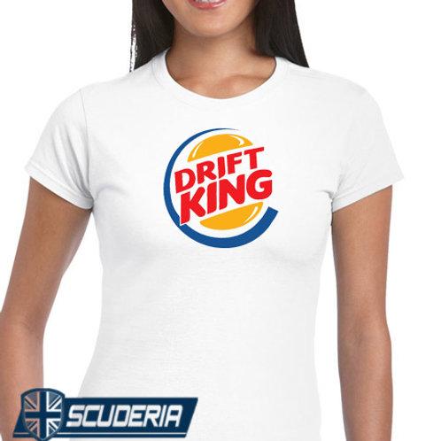 Ladies Fit Tee shirt -drift king logo