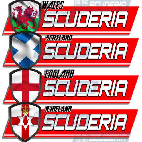 Scuderia bumper sticker Flag